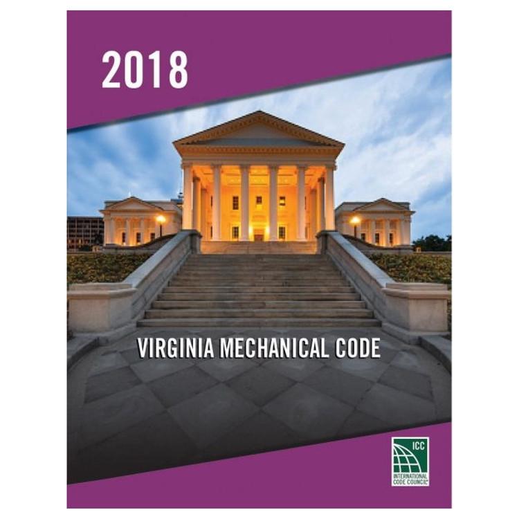 2018 Virginia Mechanical Code - ISBN#9781955052818