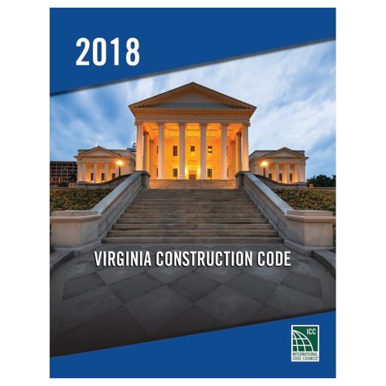 2018 Virginia Construction Code - ISBN#9781955052733