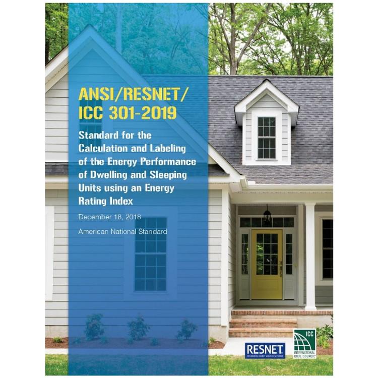 ANSI/RESNET/ICC 301-2019 - ISBN#9781609838805