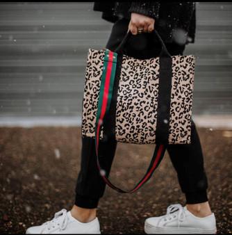 Leopard Canvas Crossbody