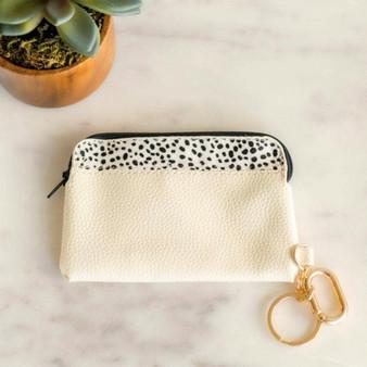 Lexie Leather Cardholder w/zipper