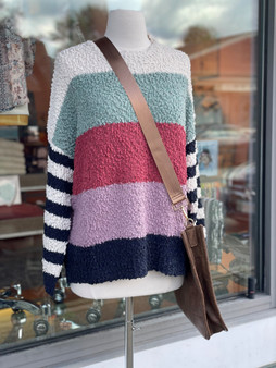 Stripe Bell Sleeve