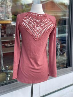 Crochet Back Long Sleeve