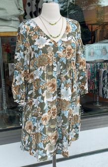 Fall Floral Print Dress