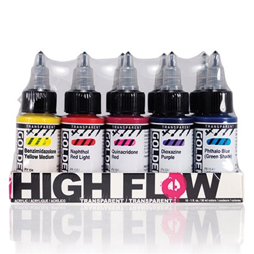 High Flow Transparent 10 Colour Set