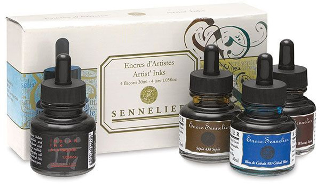 Sennelier Encre Artist Ink 4 Bottle Set