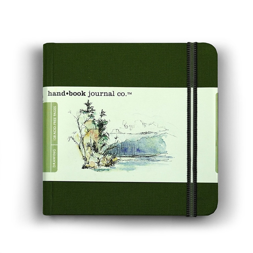 Handbook Journal Drawing Green