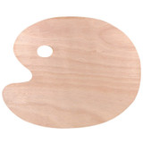 Wood Palette - Oval