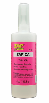 ZAP CA - Thin Viscosity Super Glue  4oz.