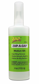 ZAP-A-GAP - Medium Viscosity Super Glue 4oz.