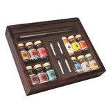 Sennelier Encre 12 Colour Ink Set in Wooden Box