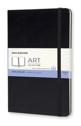 Moleskine Art Sketchbook - A3, A4, A5 - Plain Black Cover