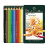 Polychromos Colour Pencils - Set of 12 in Tin