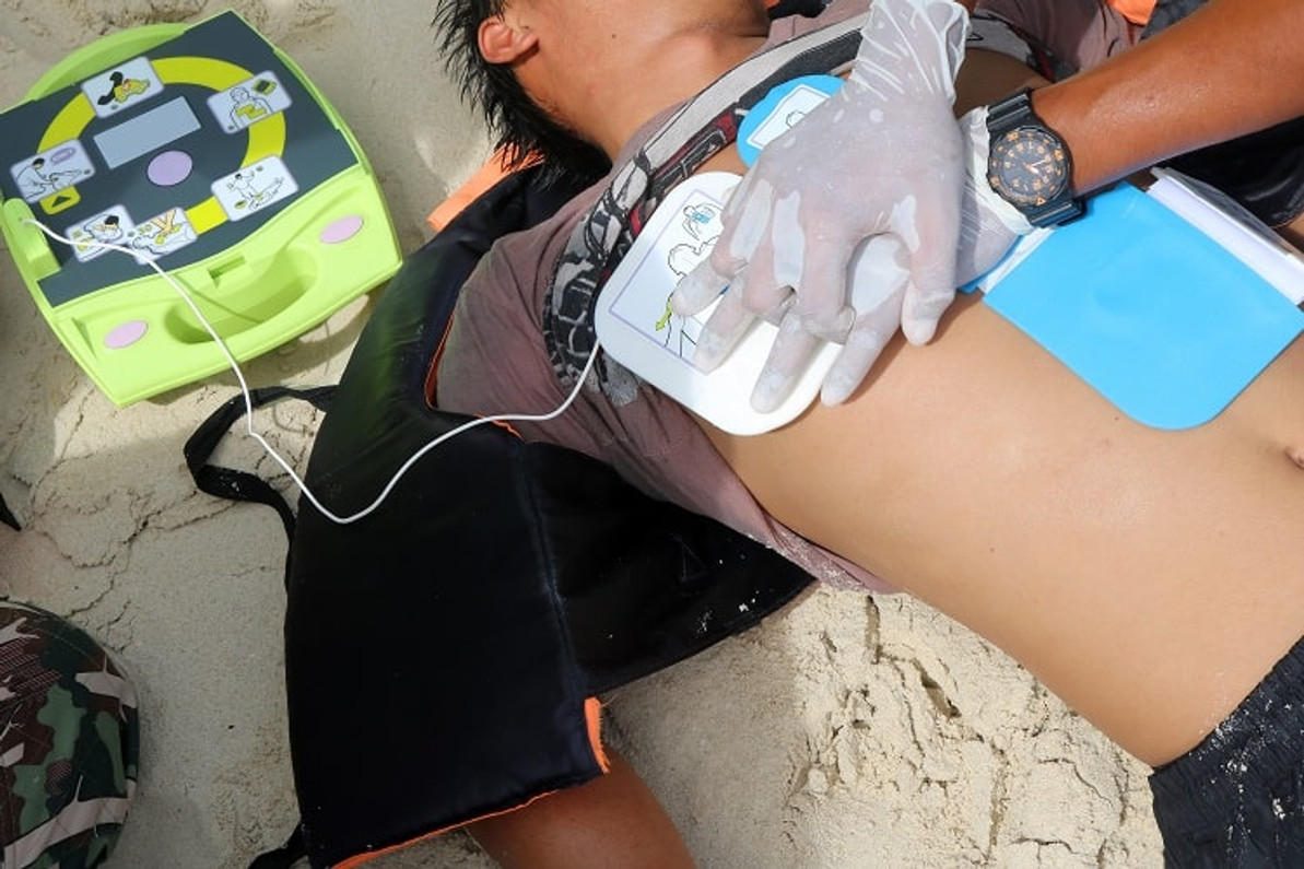 What is a defibrillator used for?