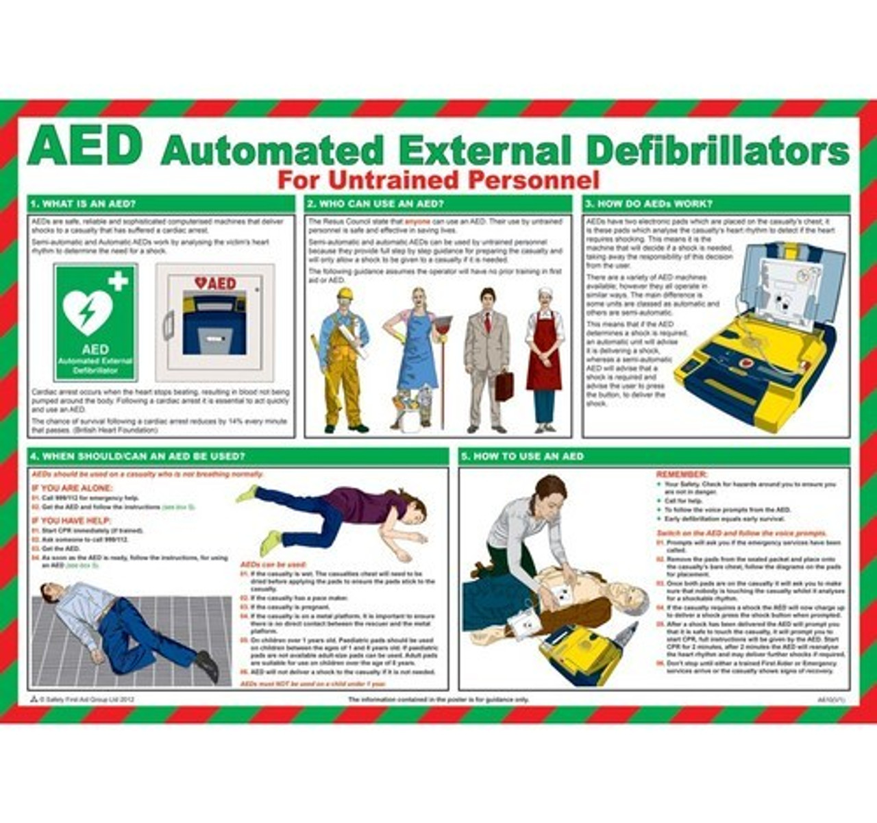 AED Defibrillator Signs & Posters