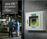 Where is an AED located?
