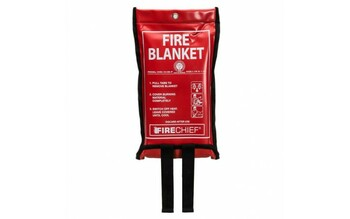 1.1m x 1.1m Fire Blanket in Soft Case