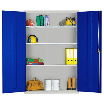 Extra Wide Standard Cupboard (724818C) blue open