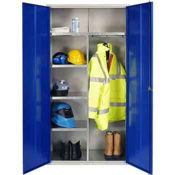 Clothing & Equipment Cupboard 1830 x 915 x 457mm (723618CE) blue