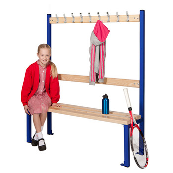 Single Sided School Cloakroom Island Seating 1370(h) x 400(d) x 1200(l)mm (PIS120S)