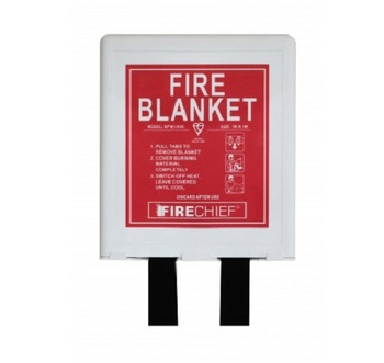 1 x 1m Firechief Basic Pod Fire Blanket White Retail Packaged