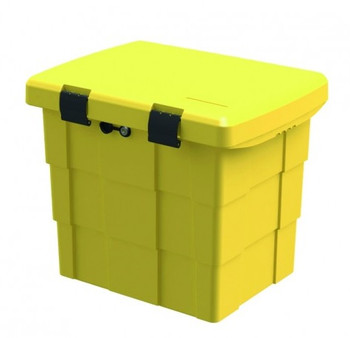 Lockable yellow grit storage bin