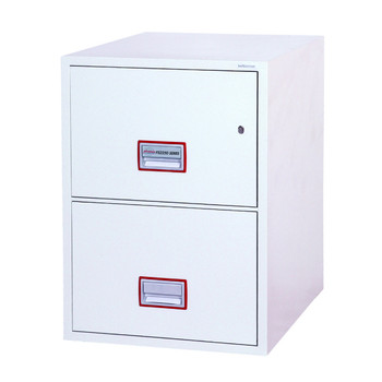 Phoenix World Class Vertical Fire File FS2252K 2 Drawer Filing Cabinet with Key Lock