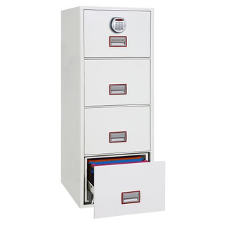 Phoenix World Class Vertical Fire File FS2254E 4 Drawer Filing Cabinet with Electronic Lock
