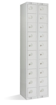 20 Door Personal Effects Locker (Floor Standing) 1800 x 450 x 380mm grey