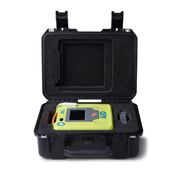 Large Rigid Plastic Case - Holds ZOLL AED 3/spare CPR Uni-padz/spare battery pack