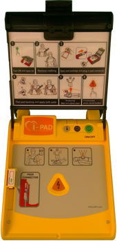 i-PAD NF1200 Semi-Automatic AED Trainer open