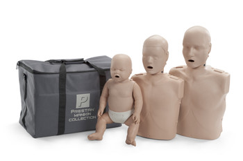Prestan Professional Training Manikin Family with CPR Monitors/Lung Bags (Pk 3)