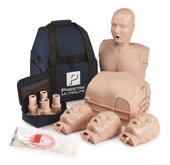 Prestan Ultralite Manikin with 50 Face shields Lung Bags Pk4