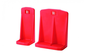 Moulded Double Flat Base Fire Extinguisher Stand Red