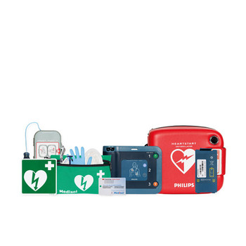 Philips Heartstart FRx semi-automatic AED with free accessories