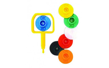 Chubb-Type Pin & Yellow OK Indicator - Pack of 25