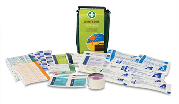 Overseas First Aid Kit in Green Helsinki Bag contents
