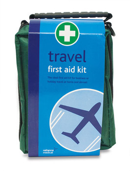 Travel First Aid Kit in Green Helsinki Bag