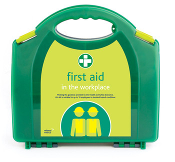 HSE 10 Person Workplace First Aid Kit in Green Integral Aura Box