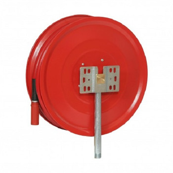 Manual Fixed Fire Hose Reel with 25mm x 30m Hose back