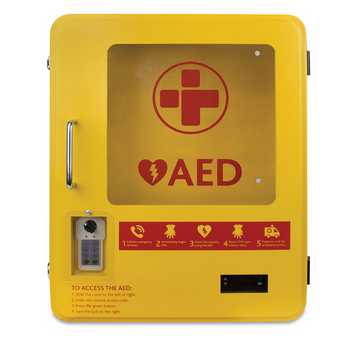 Heated Outdoor Metal AED Wall Cabinet (2105) front