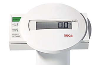 Electronic column scales with BMI function - seca 769 close up