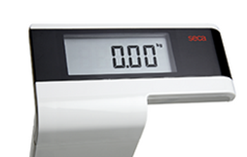 Digial personal scale with high column - seca 719 Supra closeup