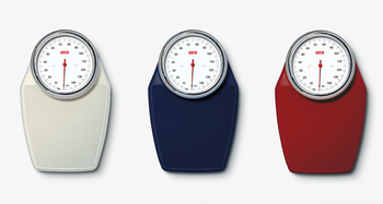 Mechanical personal scale in modern colours - seca 760 all colours