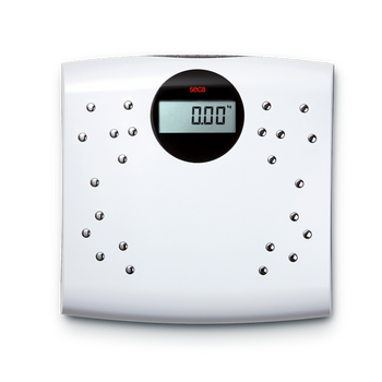 Digital personal scales with chrome-plated electrodes - seca sensa 804