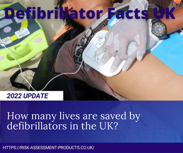 How many lives are saved by defibrillators in the UK?