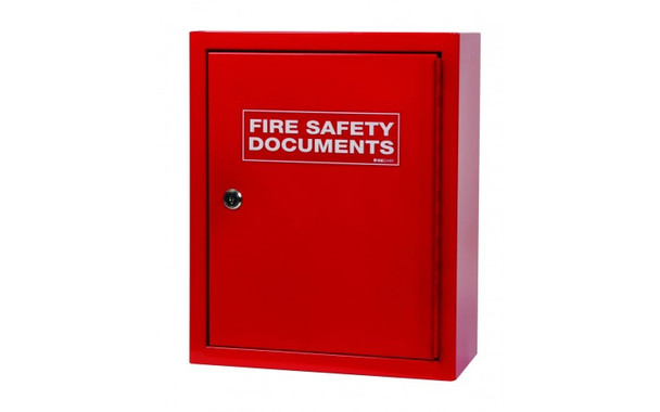 Metal Document Cabinet, Seal Latch - Red