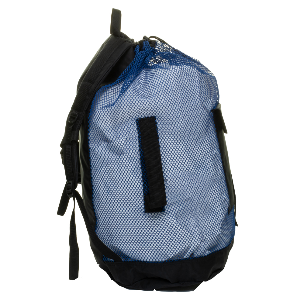 EVO Deluxe Mesh Backpack Dive Bag Side Handle - Blue