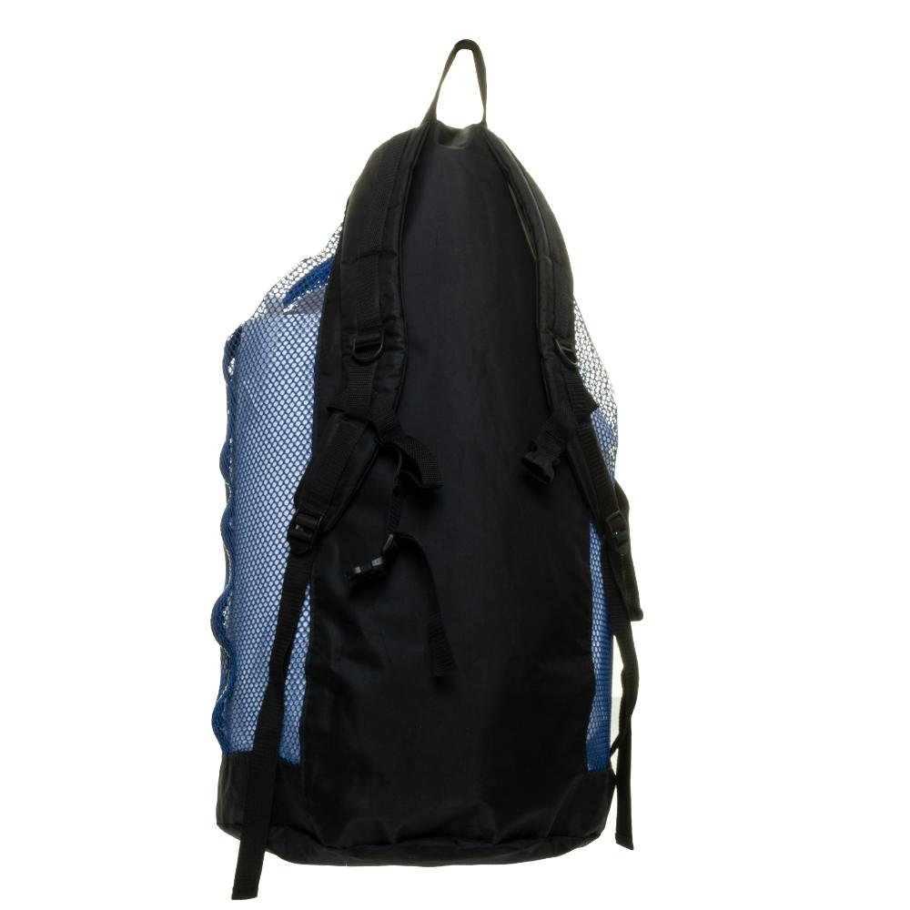 EVO Deluxe Mesh Backpack Dive Bag Back - Blue