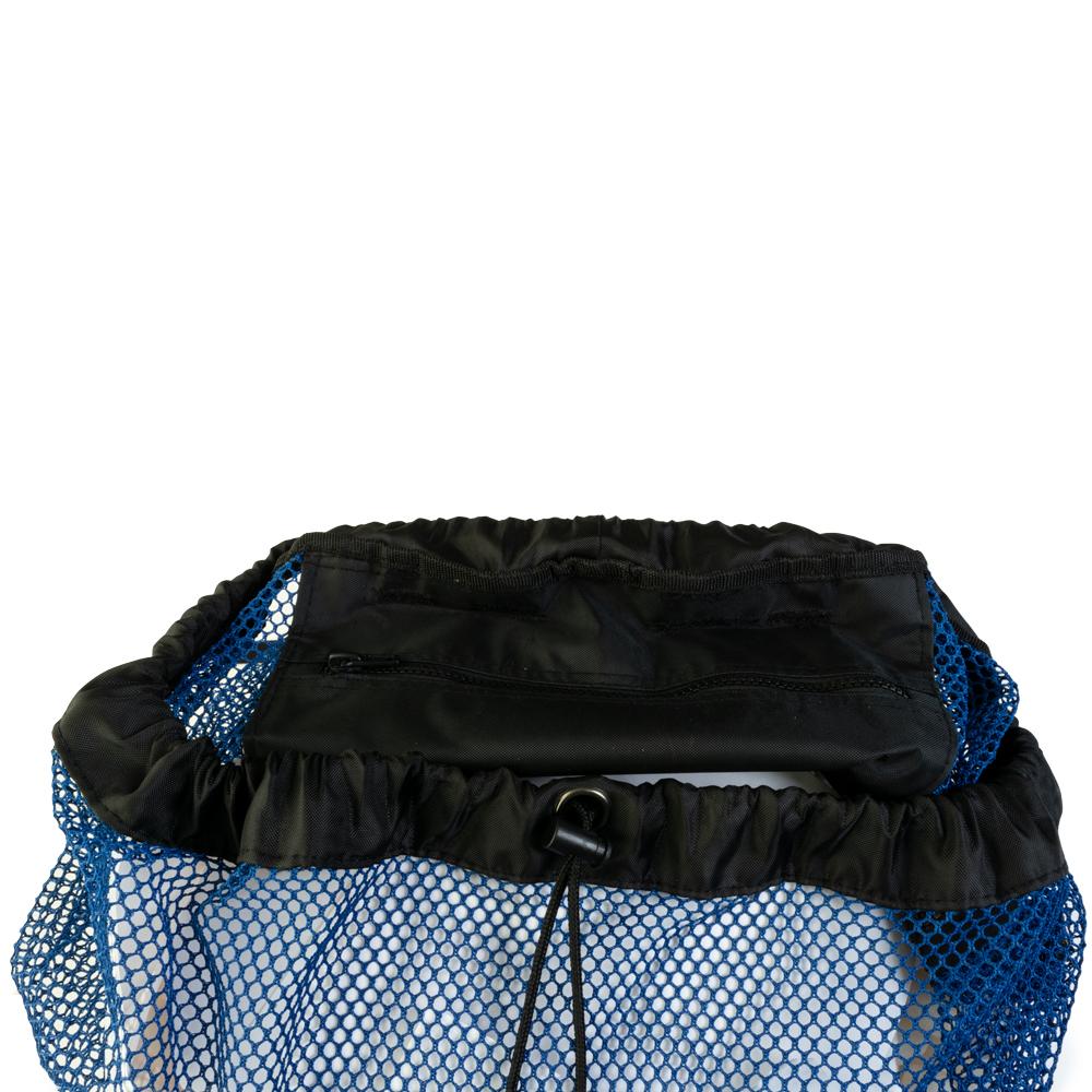 EVO Deluxe Mesh Backpack Dive Bag Details - Blue